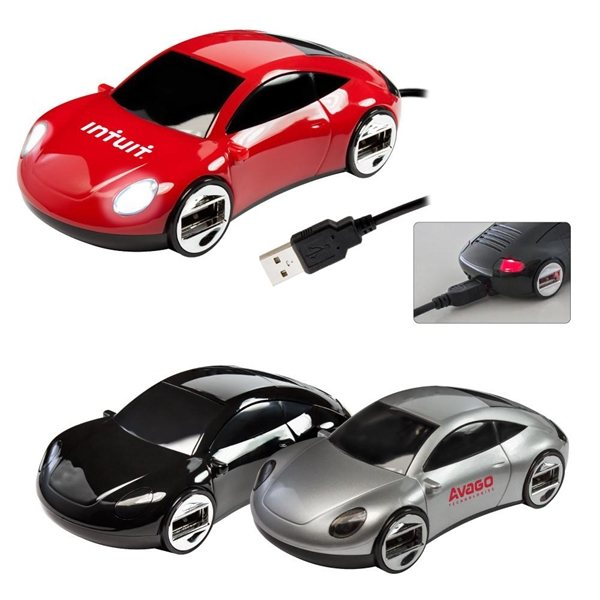 Promotional Sports Car 4- Port USB Hub