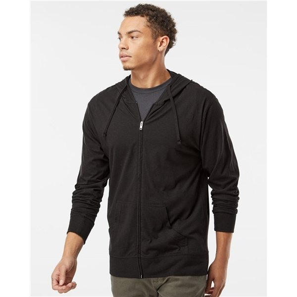 Promotional Independent Trading Co. Lightweight Jersey Hooded Full - Zip