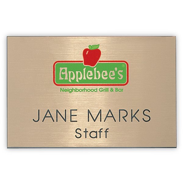 Promotional Hollywood Standard Name Badge 2 x 3