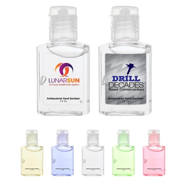 Promotional 1/2 oz Flat Hand Sanitizer