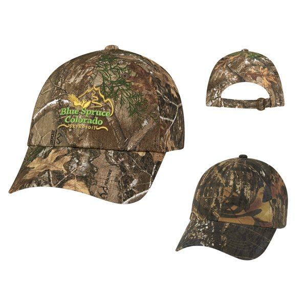 Promotional Realtree(TM) And Mossy Oak(R) Hunters Hideaway Camouflage Cap a6aff7e1e41f