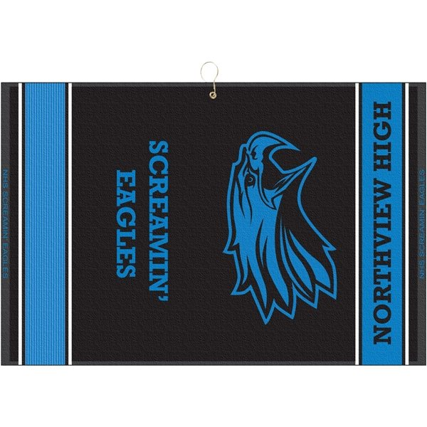 Promotional 16 x 24 Designer Woven Towel with Addl Scrubber