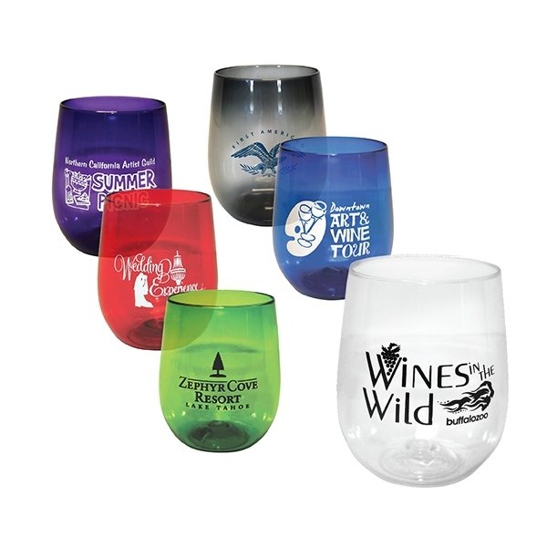 82daf5ac6d5 12 oz Vinello Shatterproof Stemless Wine Glass (Screen Printed)