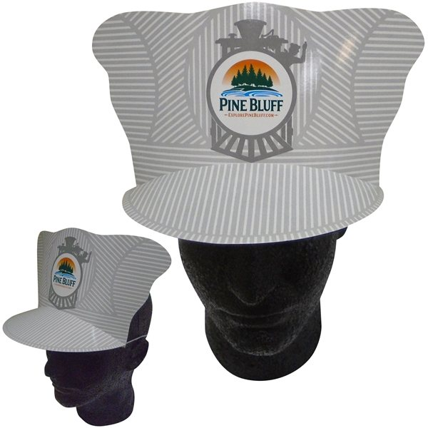 Promotional Casey Jones Train Conductor Hat With Elastic Band - Paper Products