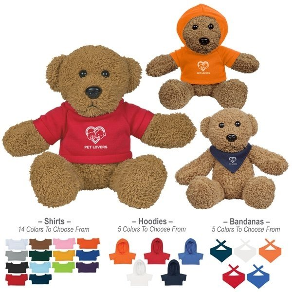 Promotional 6 Ole Time Rag Bear With Shirt