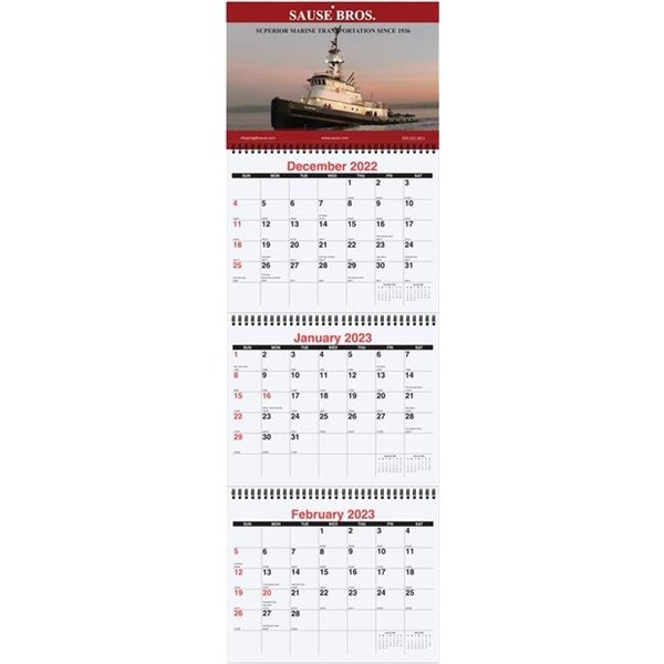 Promotional Three Months at a Glance Calendars