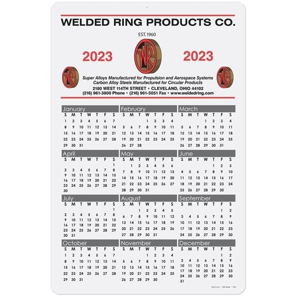 Promotional Year At A Glance Cards