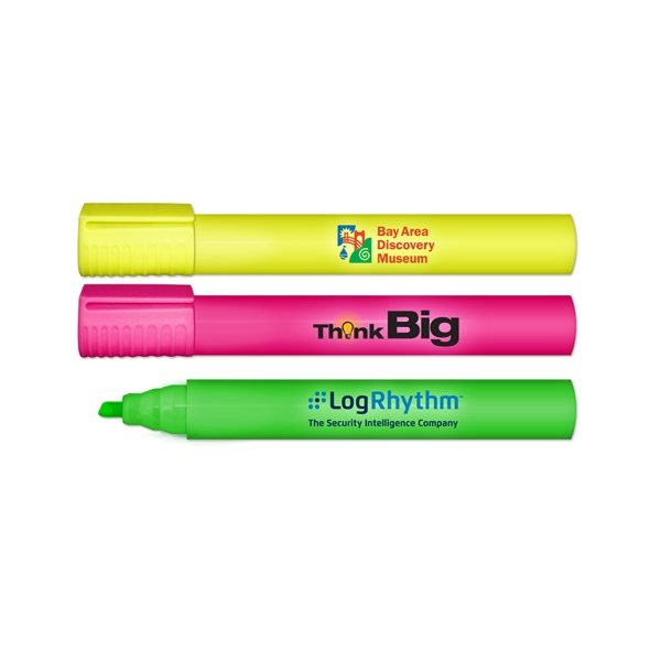Promotional XL Jumbo Highlighter - Full Color Decal Print