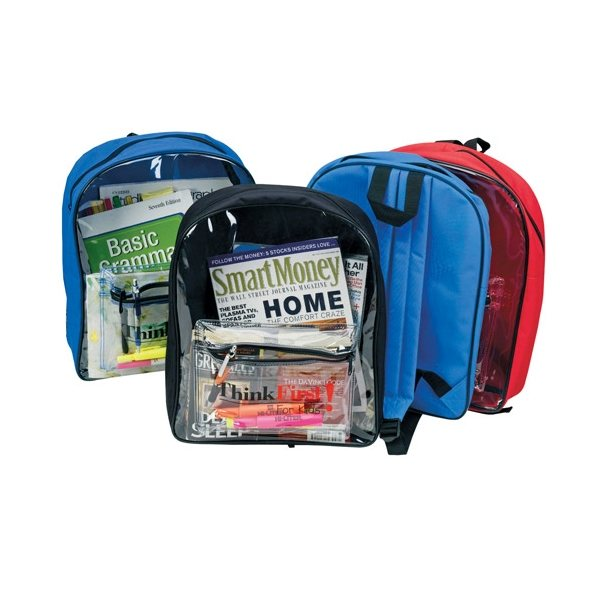Promotional Backpack with Clear Front
