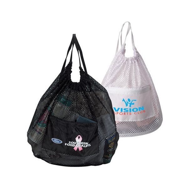 Promotional Drawstring Mesh Backpack