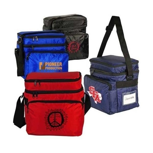 Promotional Dual Compartment 10- Pack Cooler