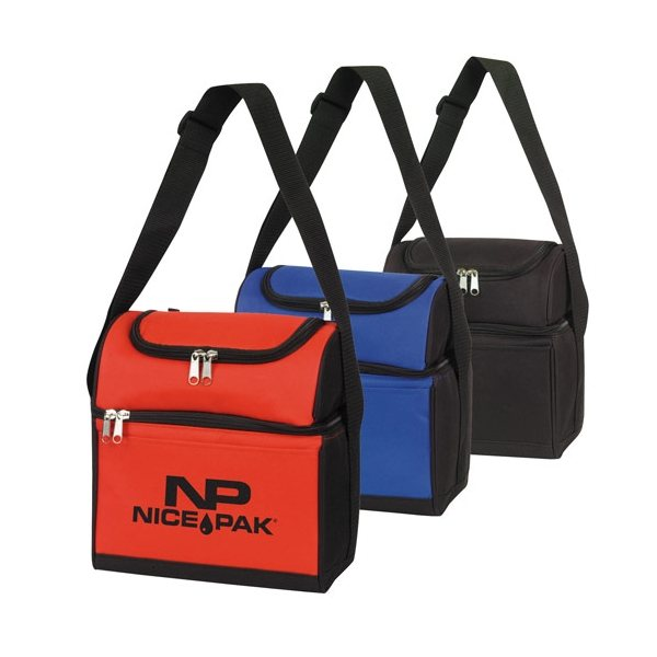 Promotional Round Top Dual Compartment 6- Pack Cooler