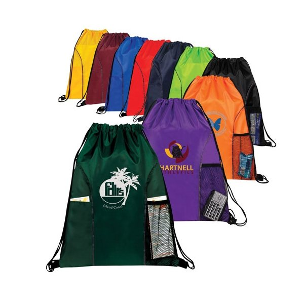 Promotional Sports Drawstring Backpack