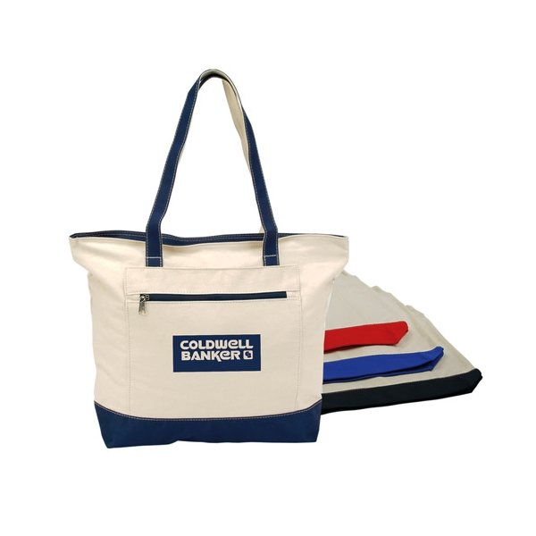 Promotional Zippered Canvas Tote