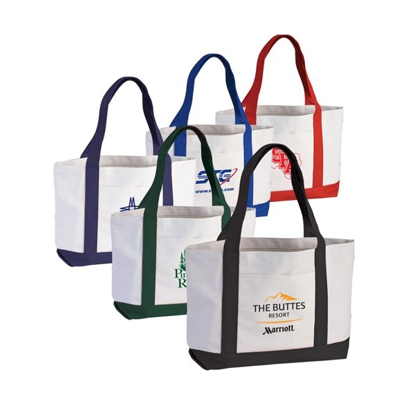 Promotional 2- Tone Poly Boat Tote