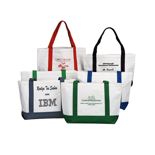 Promotional Canvas Boat Tote with Hand Shoulder Straps