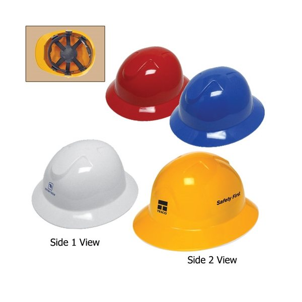 Promotional Full Brim Hard Hat with 6- Point Pinlock Suspension