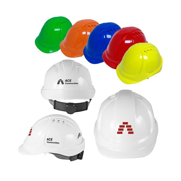 Promotional Vented Cap Style Hard Hat with 6- Point Ratchet Suspension