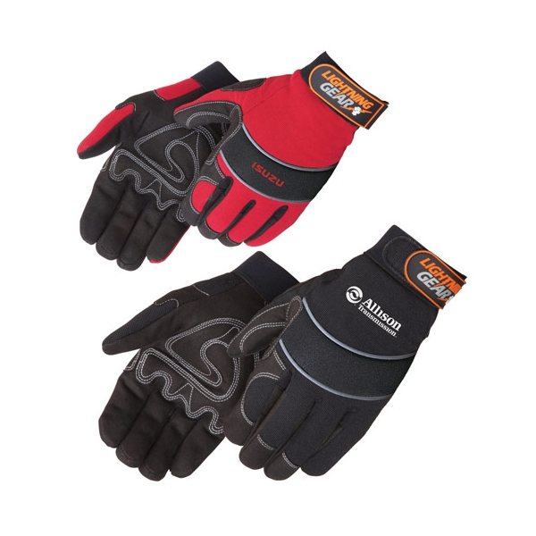 Promotional Premium Simulated Leather Reinforced Palm Mechanic Gloves