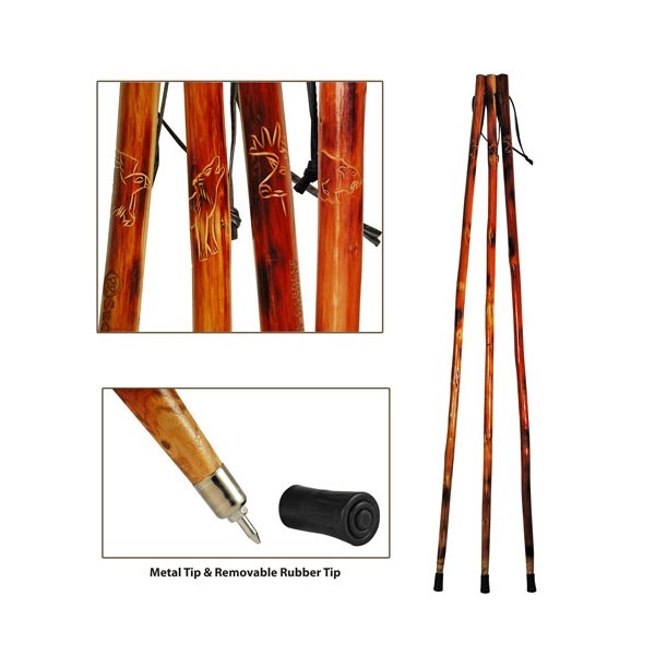 Promotional 55 Wooden Hiking Stick