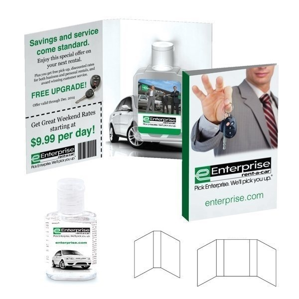 Promotional Tek Booklet with Hand Sanitizer Gel