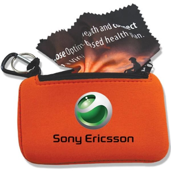 Promotional Microfiber Cloth 6x6 in Phone Case