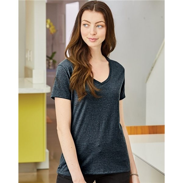 Promotional Hanes - Ladies V - Neck Nano - T(R) - S04V