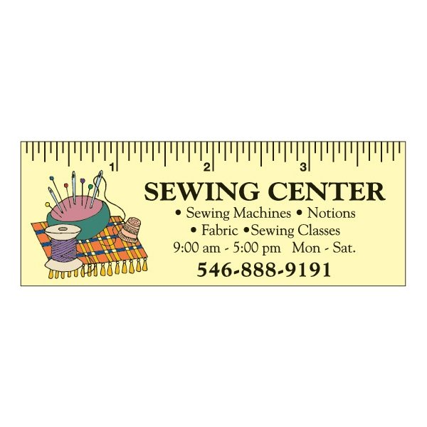 Promotional 1 12 x 4 Rectangle Magnetic Rulers