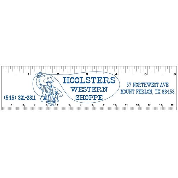 Promotional 1 12 x 6 Rectangle Magnetic Rulers