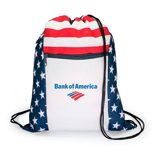 Promotional Patriotic Drawstring