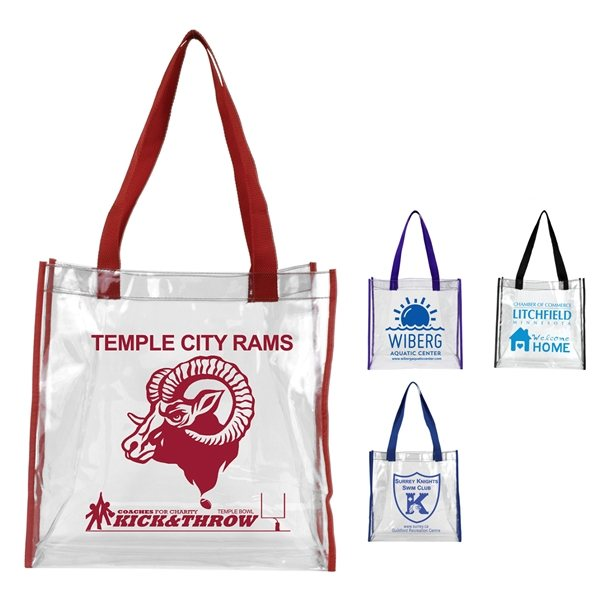 Clear Vinyl Stadium Compliant Tote Bag Custom Products