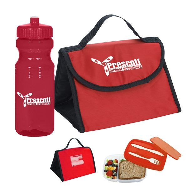 Promotional Budget Lunch Kit with 18oz Bottle