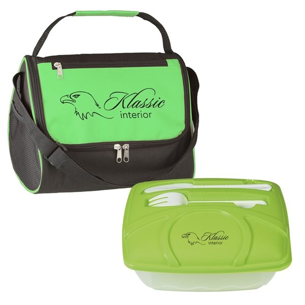 Promotional Big Bite Lunch Kit with Lunch Bag and Container