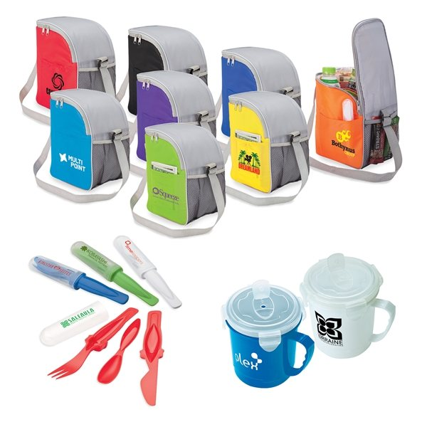 Promotional Moss Point 3 Piece Lunch Cooler Kit