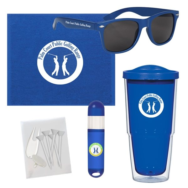 Promotional Towel Tumbler Golf Kit