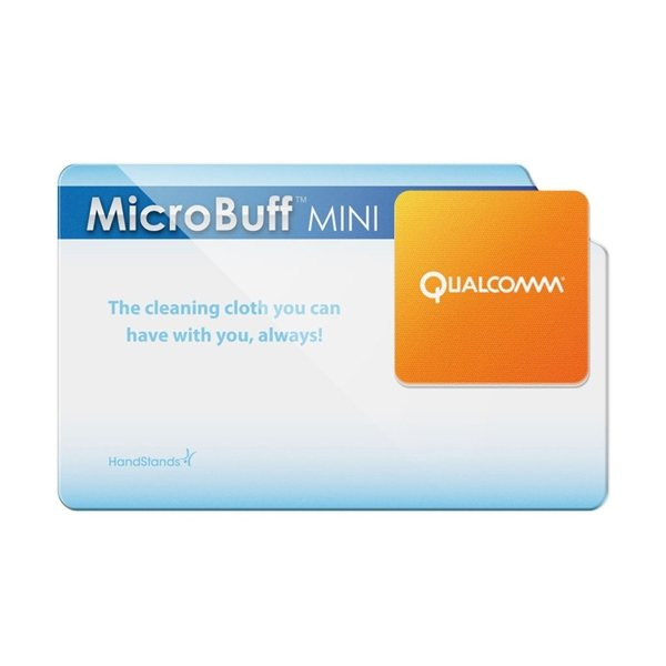Promotional MicroBuff (TM) MINI microfiber cleaning cloth - plastic card