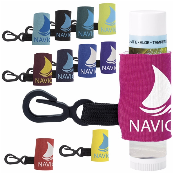 Promotional SPF -15 Lip Balm with Leash
