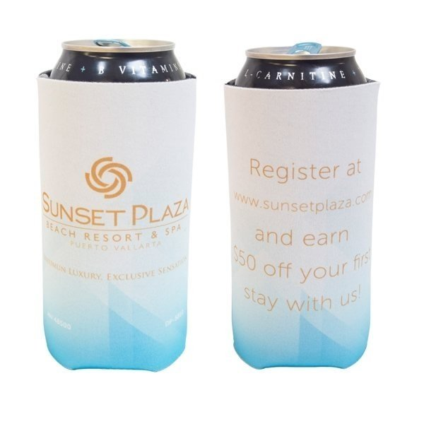 Promotional Coolee 16 oz Can Holder with 4 CP