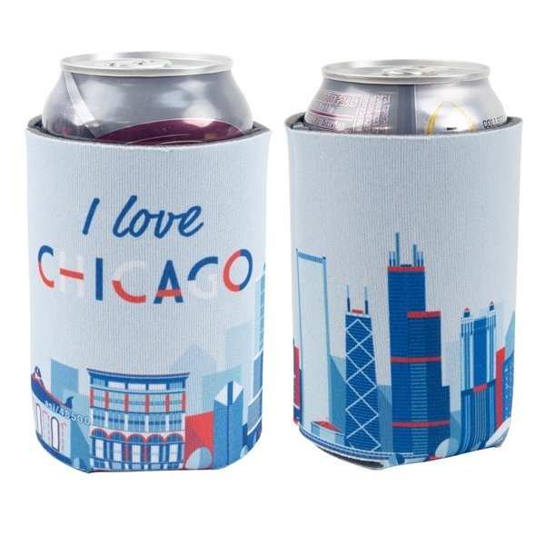 Promotional Coolee 12 oz Can holder with 4 CP