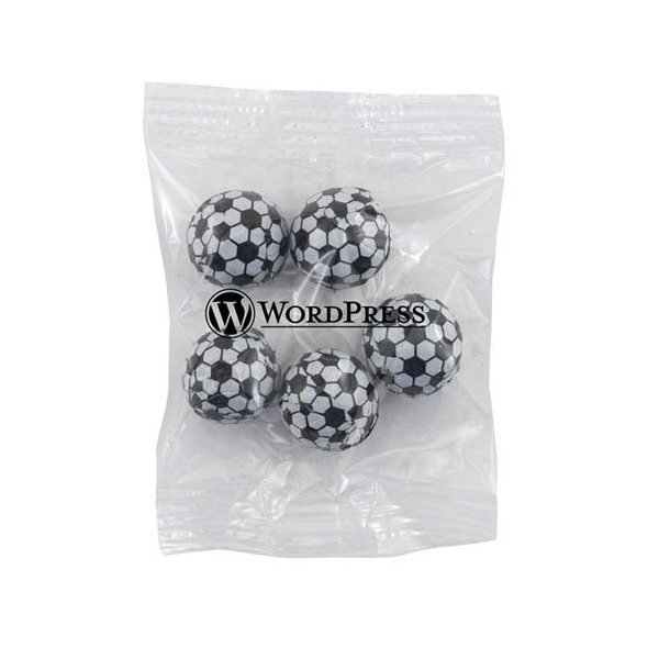 Promotional Medium Imprinted Bountiful Bag Filled with Chocolate Soccer Balls