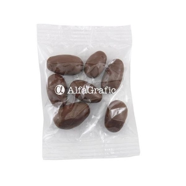 Promotional Medium Imprinted Bountiful Bag Filled with Chocolate Covered Almonds