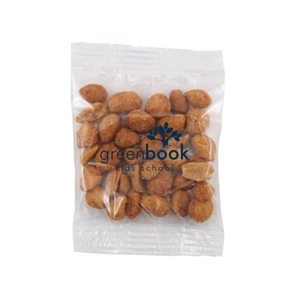 Promotional Medium Imprinted Bountiful Bag Filled with Honey Roasted Peanuts