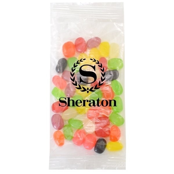 Promotional Large Imprinted Bountiful Bag Filled with Jelly Beans