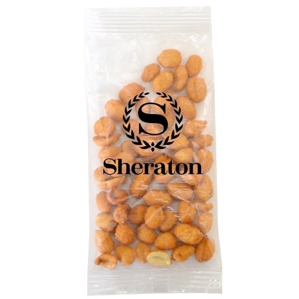 Promotional Large Imprinted Bountiful Bag Filled with Honey Roasted Peanuts