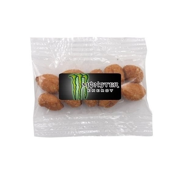 Promotional Small Labeled Bountiful Bag Filled with Honey Roasted Peanuts