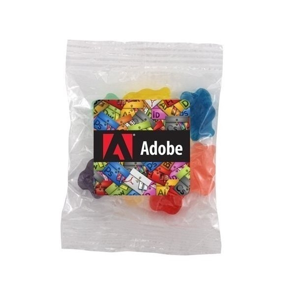 Promotional Medium Labeled Bountiful Bag Filled with Gummy Bears