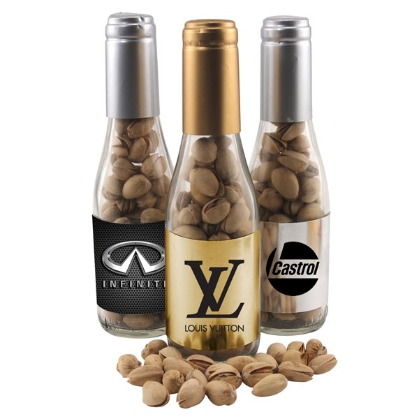 Promotional Small Champagne Bottle with Pistachios