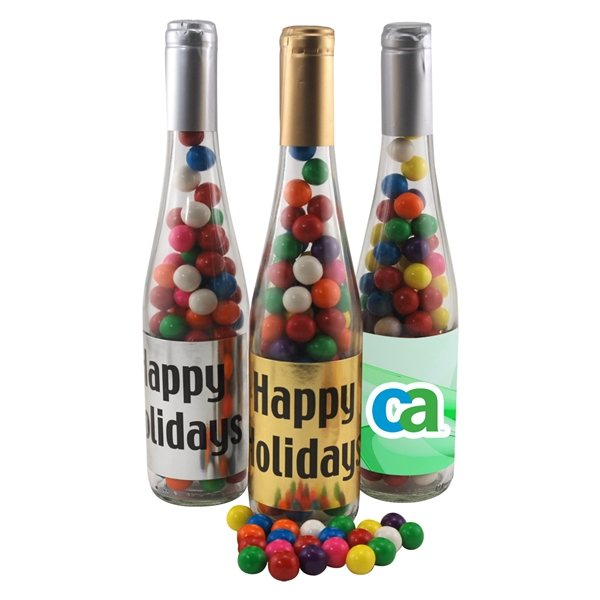 Promotional Large Champagne Bottle with Gumballs