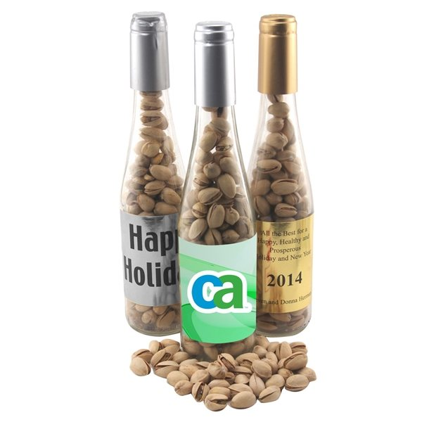 Promotional Large Champagne Bottle with Cashews