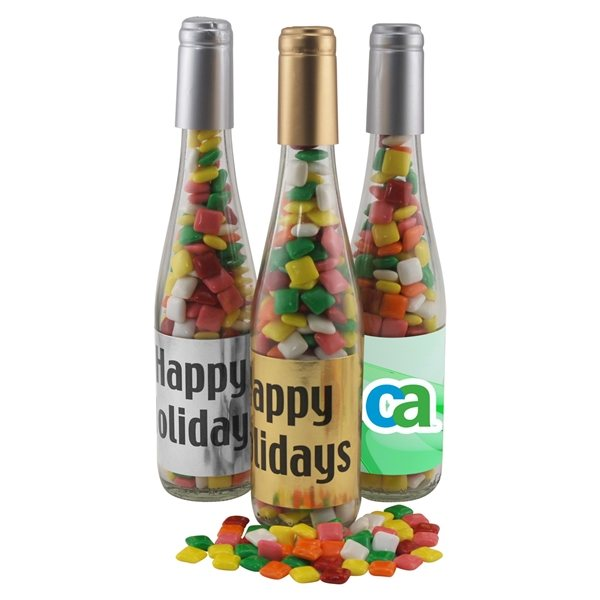 Promotional Large Champagne Bottle with Mini Chicklets